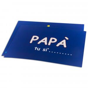 BIGLIETTO AUGURI PE' PAPA'