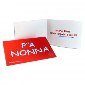 BIGLIETTO AUGURI P'A' NONNA