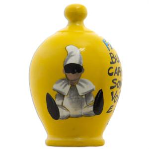 SALVADANAIO Pulcinella giallo