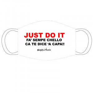 "Mascherina stoffa ""Just do it"""