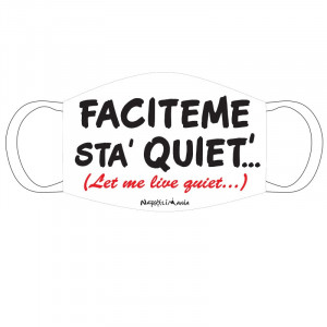 "Mascherina stoffa ""Faciteme..."