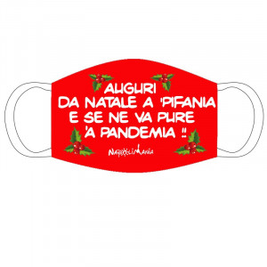 Mascherina natale in stoffa...