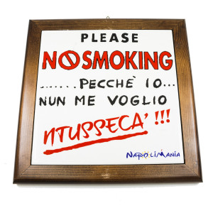 TARGA PLEASE NO SMOKING
